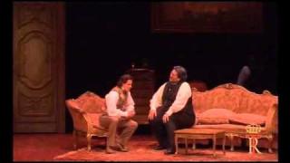 Dmitry Korchak et Nicola Alaimo dans Don Pasquale au Teatro Real