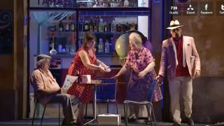 Jenis dans le Barbier de Séville mis en scène par Michieletto