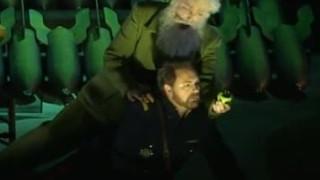Nicolas Cavallier en Merlin dans Le Roi Arthus avec Andrew Schroeder