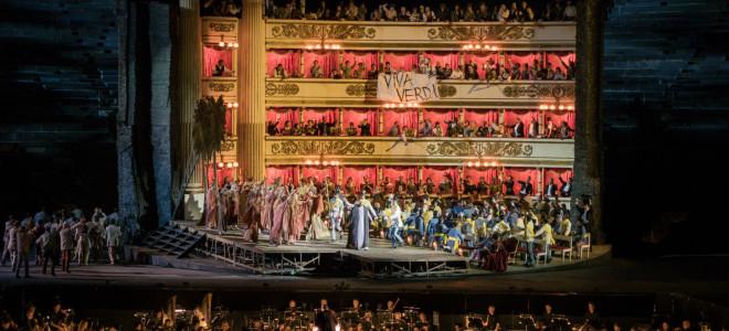 Nabucco version péplum en film muet gravé aux Arènes de Vérone