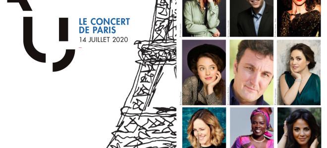Concert de Paris le 14 juillet 2020 : artistes et programme complet