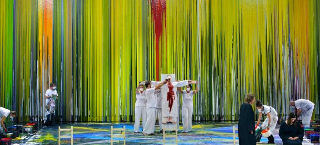 Une Walkyrie - Action artistique à Bayreuth