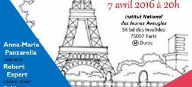 France AVC organise un concert lyrique à l'INJA pour financer ses actions
