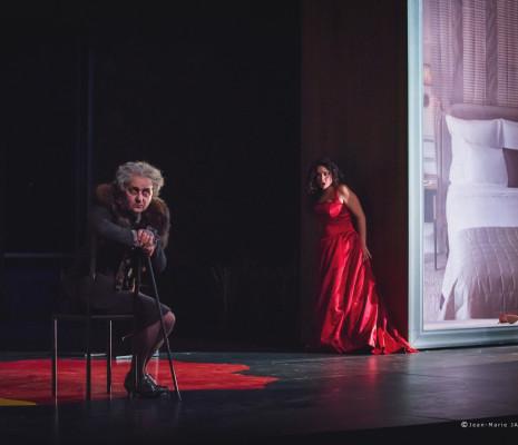 Dominique Visse et Rinat Shaham dans le Couronnement de Poppée