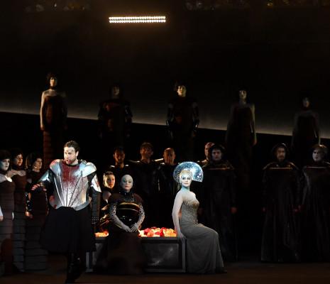 Alexandre Duhamel (Escamillo), Valentine Lemercier (Mercedes), Anaïk Morel (Carmen) et Khatouna Gadelia (Frasquita)  - Carmen par Aik Karapetian