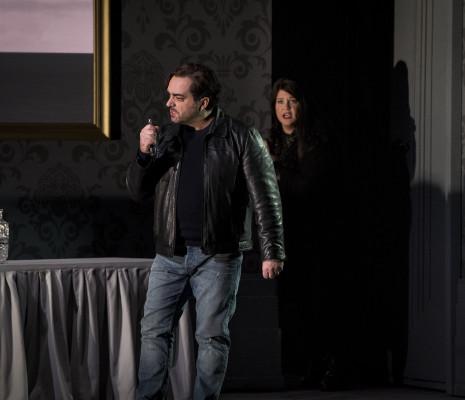 Gianluca Terranova et Keri Alkema dans Simon Boccanegra