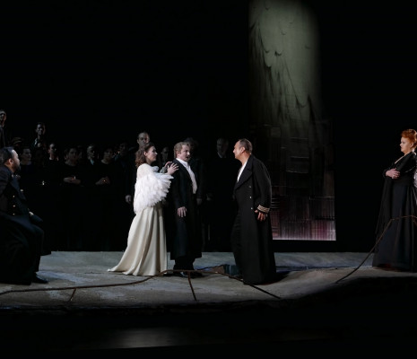 Samuel Youn (Le Roi) Barbara Haveman (Elsa) Norbert Ernst (Lohengrin) Thomas Gazheli (Telramund) et Petra Lang (Ortrud) - Lohengrin par Louis Désiré