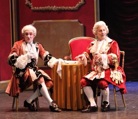 Jean-Claude Calon et Claude Deschamps dans La Fille du Tambour-Major
