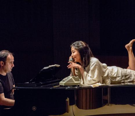 Sébastien Joly et Masayo Tago - La Voix humaine par Mireille Larroche