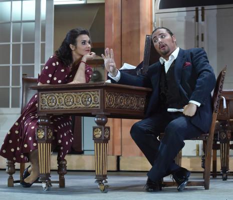 Olga Peretyatko et Florian Sempey - Le Barbier de Séville par Adriano Sinivia