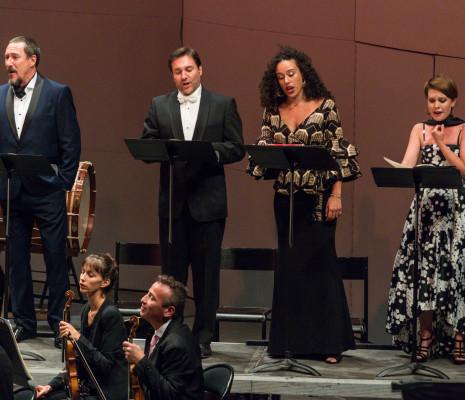 Laurent Alvaro, Sébastien Droy, Adèle Charvet et Jenny Daviet - Le Temple universel au Festival Berlioz