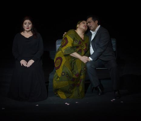 Enkelejda Shkoza, Michelle Bradley et Gianluca Terranova - Aida par Staffan Valdemar Holm
