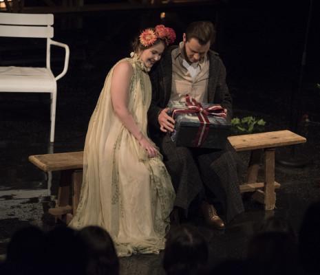 Liubov Medvedeva et Danylo Matviienko dans Shakespeare, Fragments nocturnes