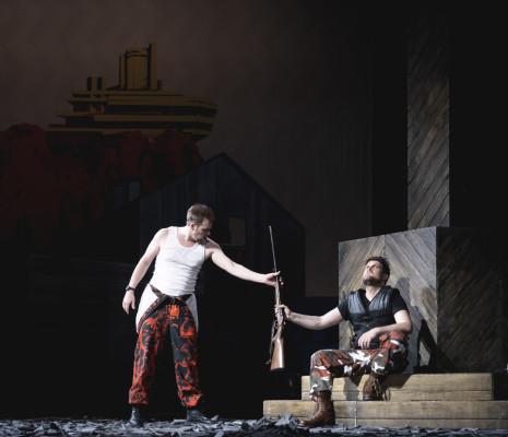 Jussi Myllys et David Steffens dans Der Freischütz