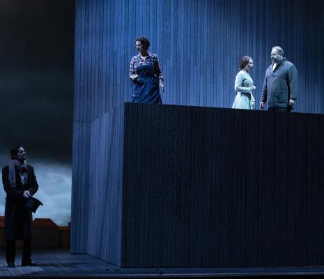 Julien Dran, Marie Gautrot, Amélie Robins et Stefano Meo - Rigoletto par Jean-Louis Grinda