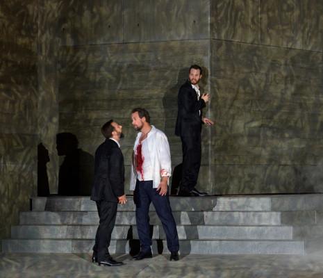 Etienne Dupuis, Philippe Sly et Ain Anger dans Don Giovanni