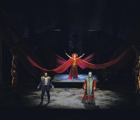 Yonghoon Lee, Claire de Sévigné et Liang Li - Aida par Phelim McDermott