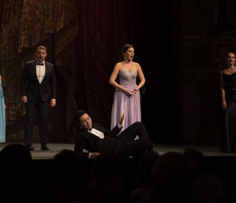 Kiup Lee, Kseniia Proshina, Tobias Westman et Andrea Cueva Molnar à l'Académie de l'Opéra de Paris