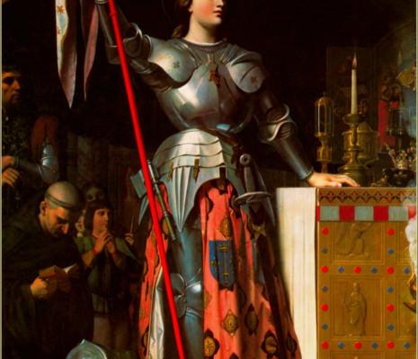 Jeanne d'Arc au sacre du roi Charles VII