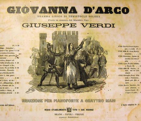 Affiche de Giovanna d'Arco de Giuseppe Verdi