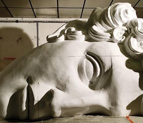 Le Viol de Lucrèce par Anne Delbée, maquette des décors par Hernan Penuela