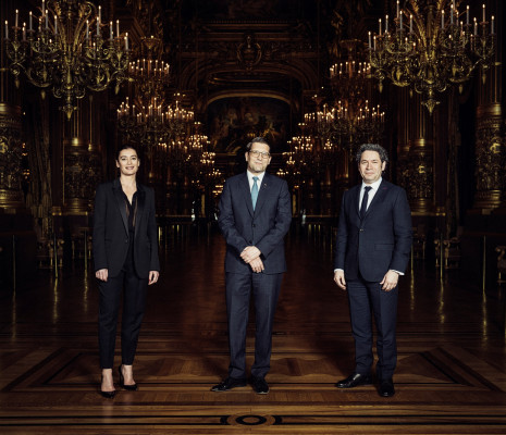 Aurélie Dupont, Alexander Neef et Gustavo Dudamel