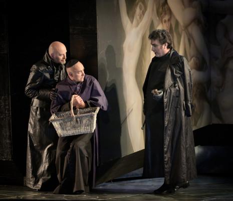 Ludovic Tézier, Carlo Bosi et Frédéric Caton dans Tosca