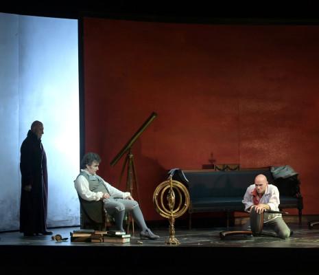 Ludovic Tézier, Michael Fabiano et Philippe Rouillon dans Tosca