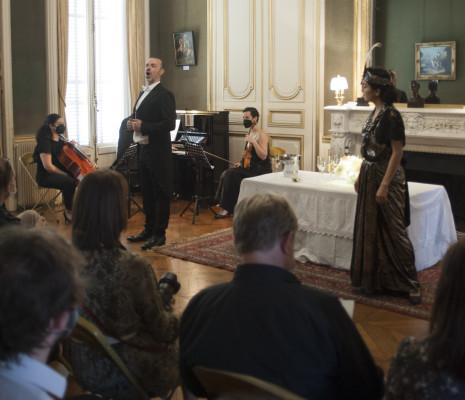 Armelle Khourdoïan et Christophe Poncet de Solages dans La Traviata