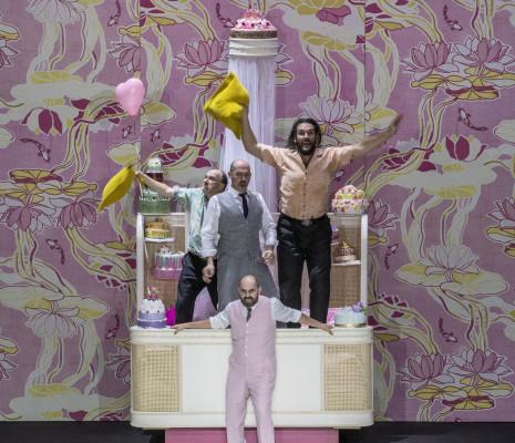 Rodolphe Briand, Stéphane Degout, Antonio di Matteo, Francesco Pittari - Falstaff par Barrie Kosky