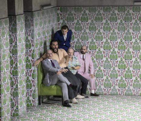 Stéphane Degout, Antonio di Matteo, Juan Francisco Gatell, Rodolphe Briand & Francesco Pittari - Falstaff par Barrie Kosky