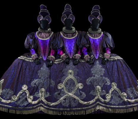 Costume de Patrice Cauchetier pour le role des Parques dans Hippolyte et Aricie de Rameau
