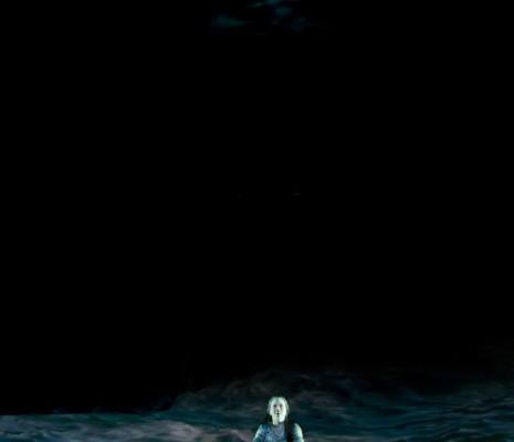 Elisabet Strid dans Le Vaisseau fantôme par Alex Ollé et La Fura dels Baus