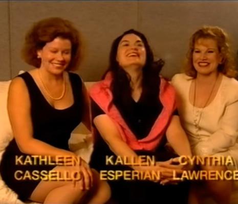 Kathleen Cassello Kallen Esperian et Cynthia Lawrence 3 Sopranos