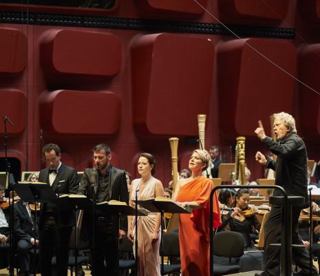 Cyrille Dubois, Nicolas Courjal, Hanna Hipp, Joyce DiDonato et John Nelson - Les Troyens à Strasbourg