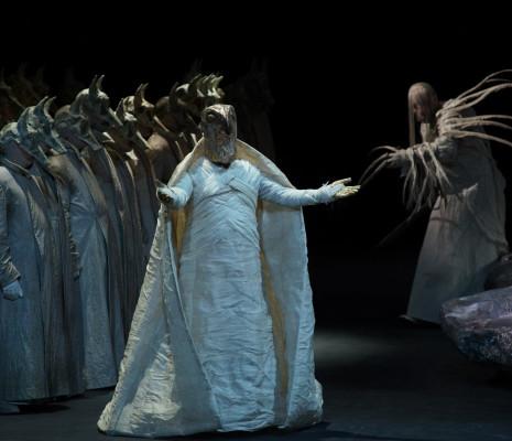 Enrico Iori (Il Re) ; Mika Kares (Ramfis) - Aida par Stathis Livathinos