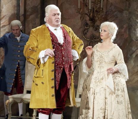 Daniela Fally et Peter Rose dans le Chevalier à la rose à Vienne