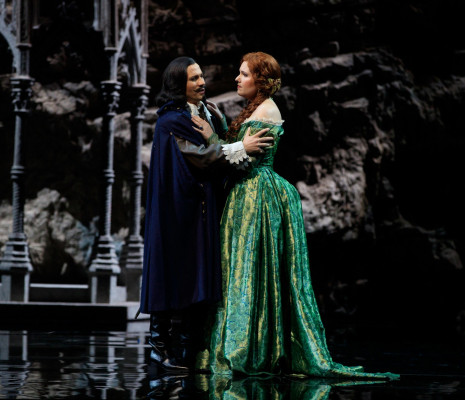 Sergey Romanovsky (Edgardo) et Nadine Koutcher (Lucia) dans Lucia di Lammermoor à Toulouse