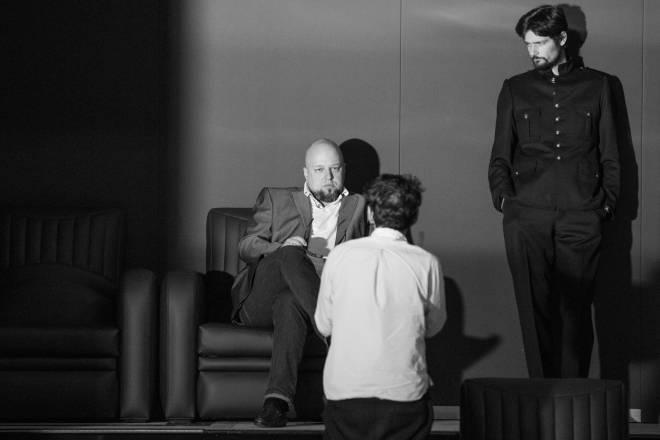 Répétitions Don Carlos par Warlikowski - Dmitry Belosselskiy et Julien Dran