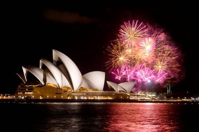 Feux d'artifices Opéra de Sydney