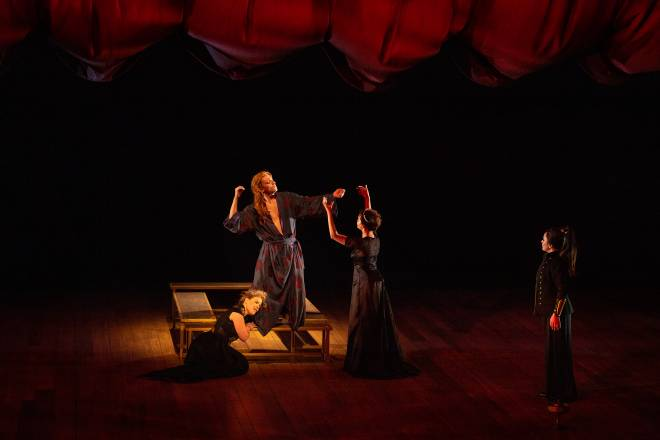 Fiona McGown, Filippo Mineccia, Julie Roset & Norma Nahoun - La finta pazza par Jean-Yves Ruf