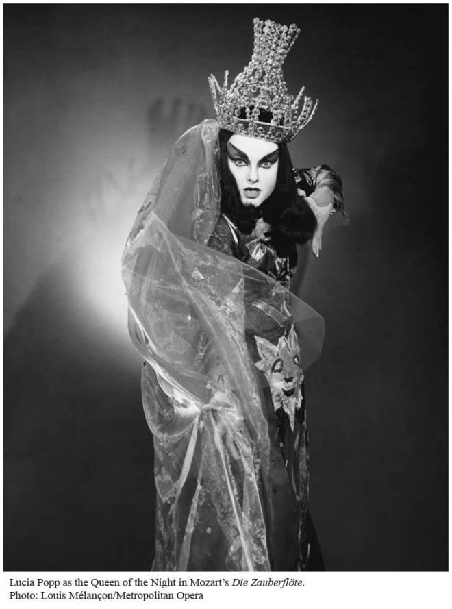 Lucia Popp est la Reine de la Nuit au MET en 1967