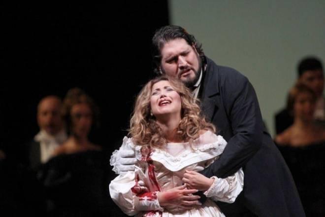 Désirée Rancatore et Nicola Alaimo dans Lucia di Lammermoor au Grand Théâtre Victor-Emmanuel