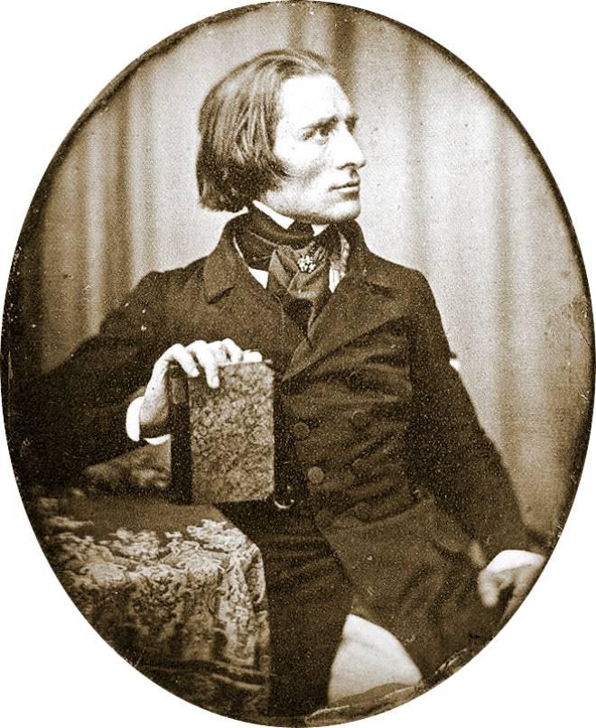 Franz Liszt par Herman Biow en 1843
