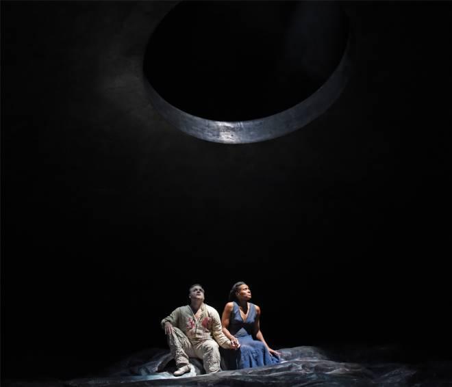 Gaston Rivero (Radamès), Adina Aaron (Aida) - Aida par Stathis Livathinos