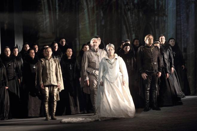 Éric Vignau, Jean-François Lapointe, Yolanda Auyanet et Carine Séchaye Don Carlos par Charles Roubaud