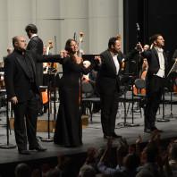 Gabriele Viviani, Sonya Yoncheva, Murat Karahan, Riccardo Fassi dans Siberia de Giordano