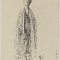 Jacques Schmidt - Maquette de costume pour Lulu par Patrice Chéreau