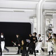 Roberto Tagliavini (Colline) et Artur Rucinski (Marcello) - La Bohème par Claus Guth