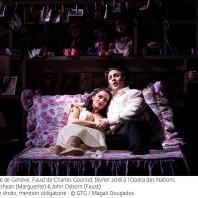 Ruzan Mantashyan (Marguerite) et John Osborn (Faust) - Faust par Georges Lavaudant